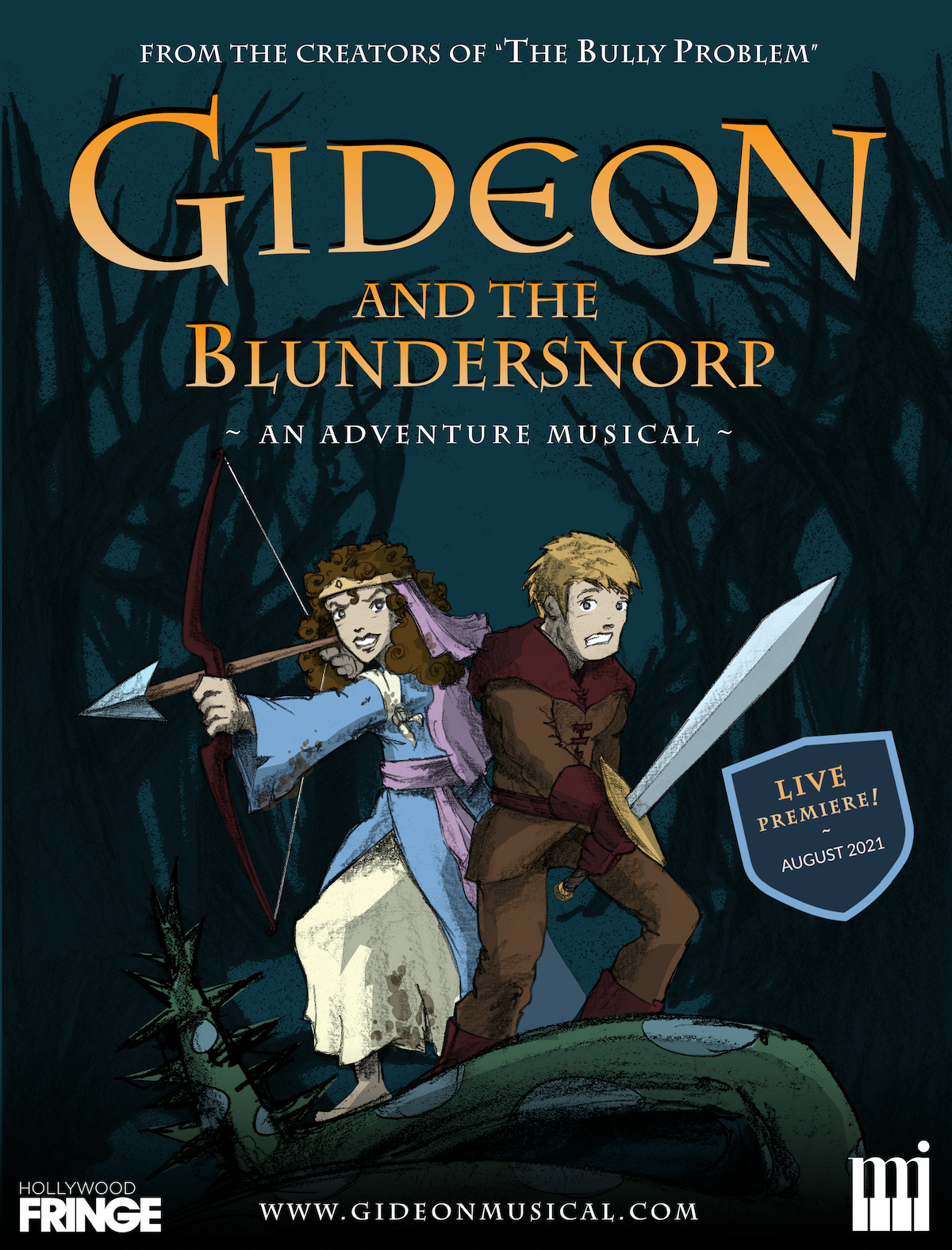 """""""Gideon"""" live stage premiere production, starting Aug 7!"""